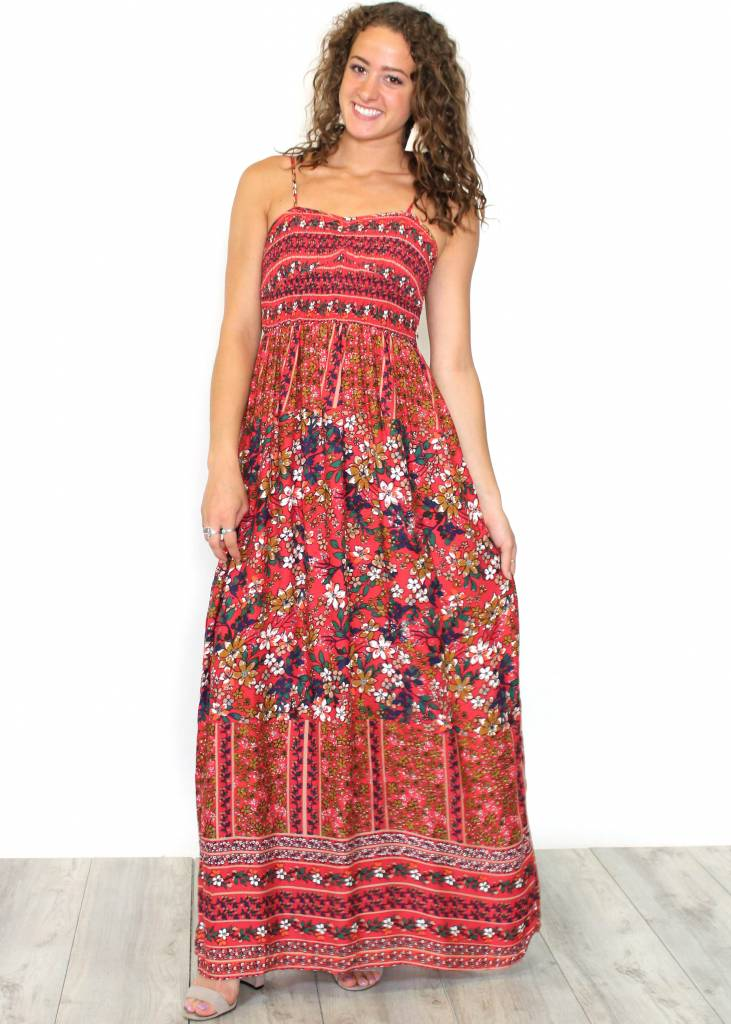 DAYDREAMER SMOCKED MAXI DRESS
