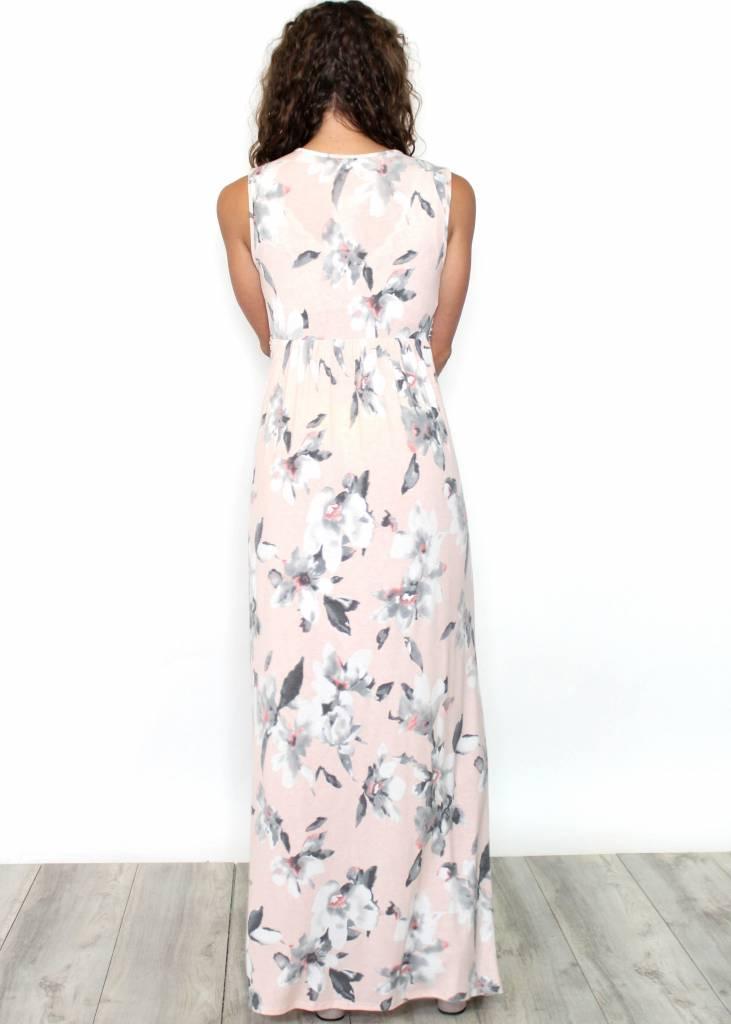 SORELLA BLUSH FLORAL MAXI DRESS