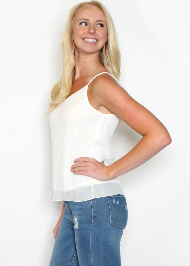 BAILEY PLEATED TANK TOP