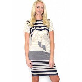 JENNY FRONT TIE T-SHIRT DRESS
