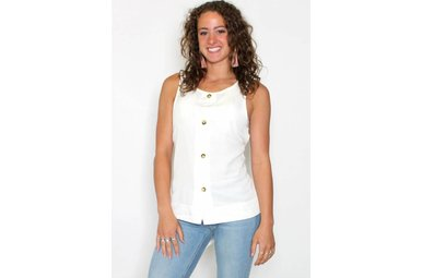 MARY BUTTON UP SLEEVELESS TOP