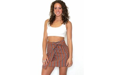 JULIET STRIPED MINI SKIRT