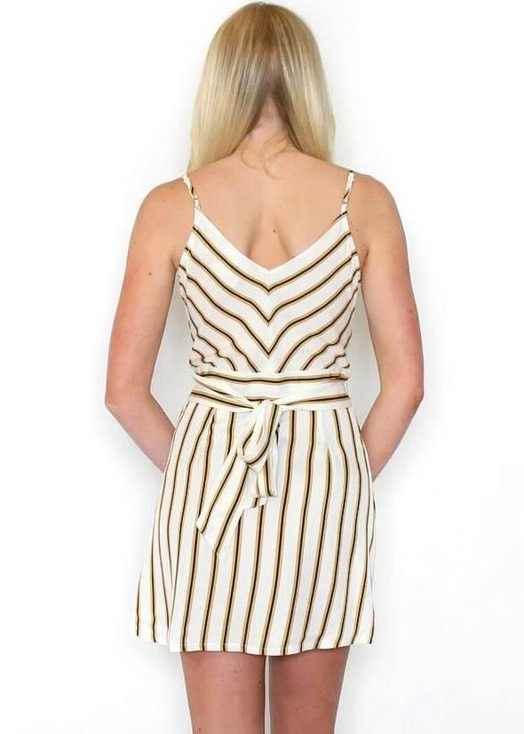 SOPHIA STRIPED WRAP DRESS