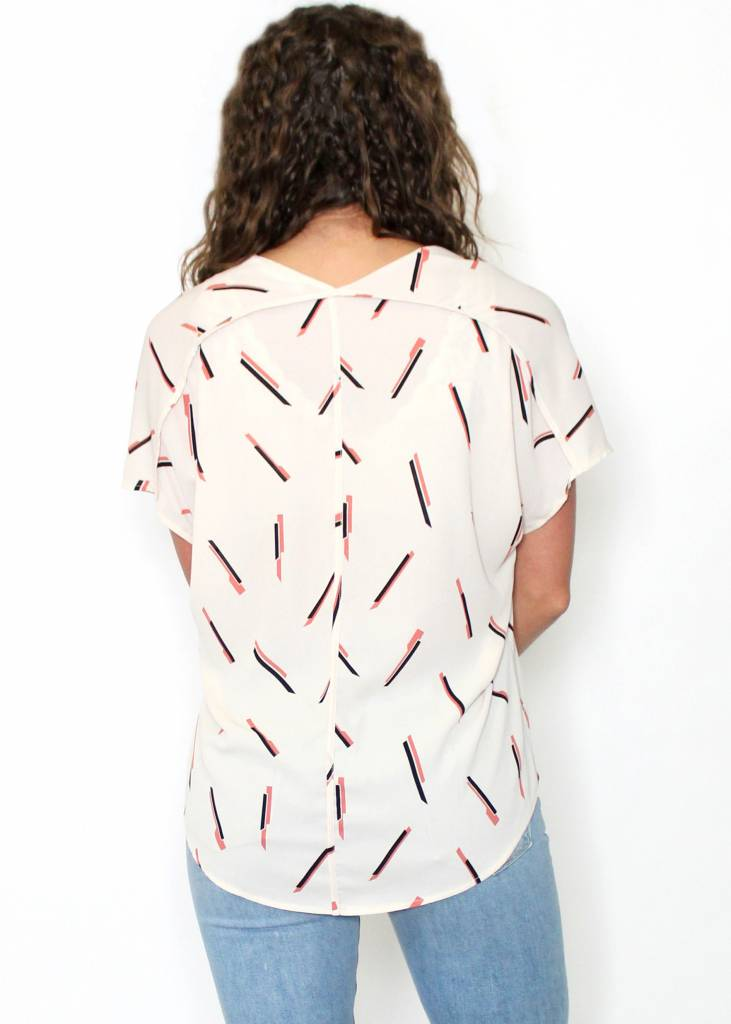 EMILY PRINTED OVERSIZED TOP