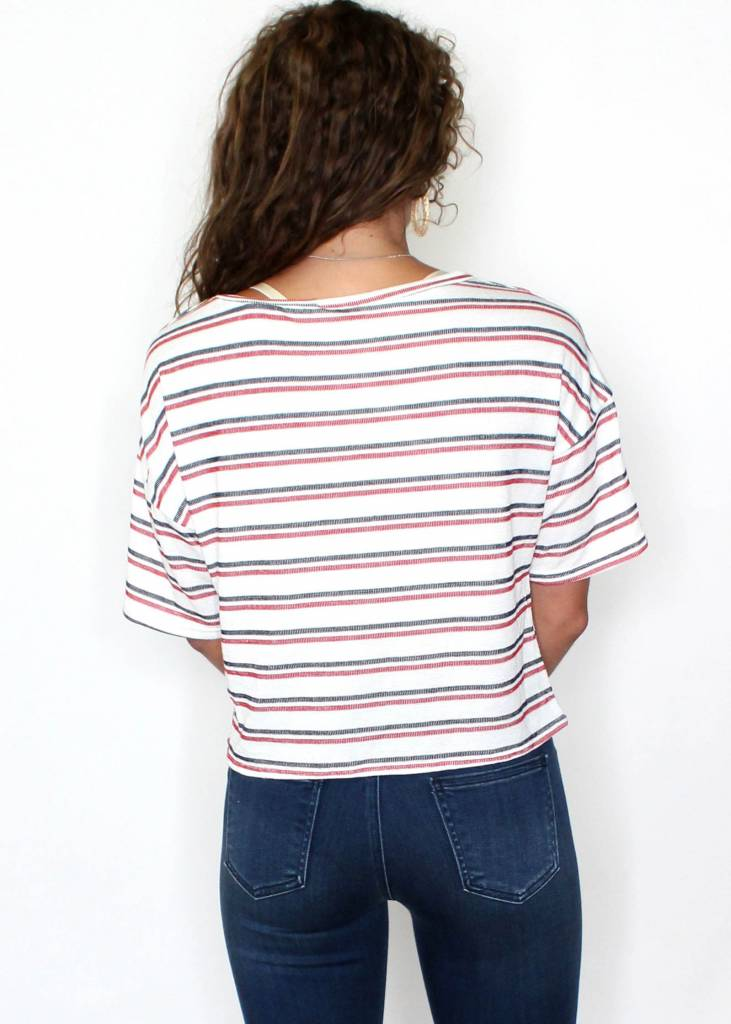 OAKLAND STRIPED KNOTTED T-SHIRT