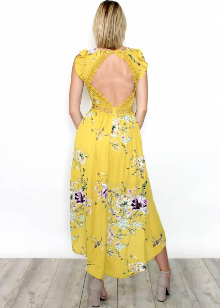 NADIA YELLOW FLORAL MAXI DRESS