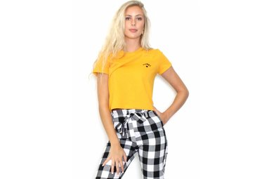 HONEY LOVE CROPPED T-SHIRT