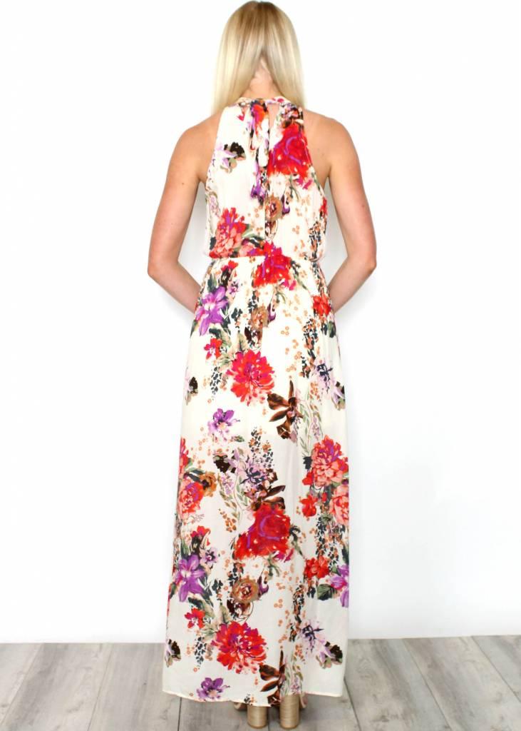 EMILIA FLORAL HALTER MAXI DRESS