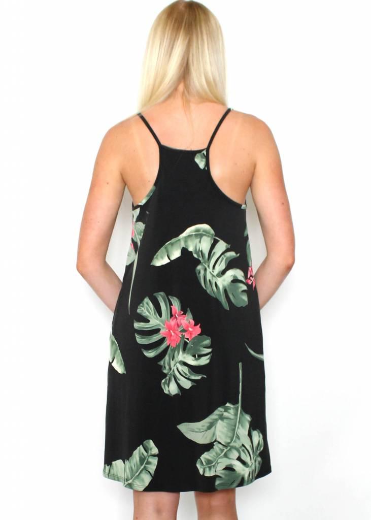 OAHU PALM PRINT DRESS