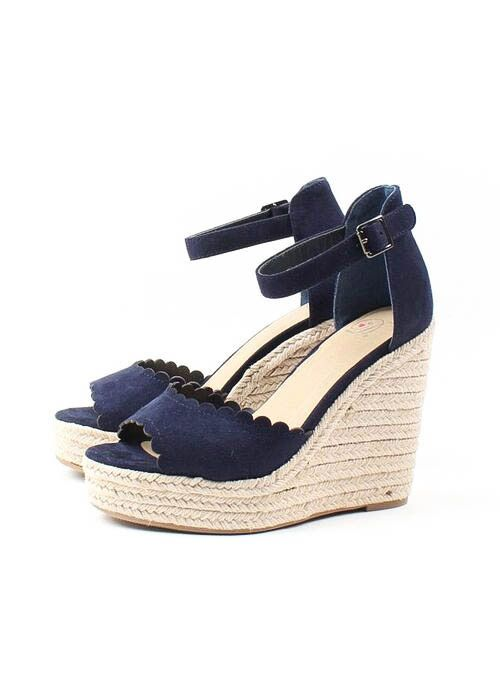 DESTINY SCALLOPED ESPADRILLE WEDGES