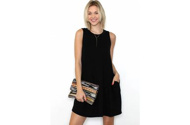 LYLA SLEEVELESS BLACK DRESS