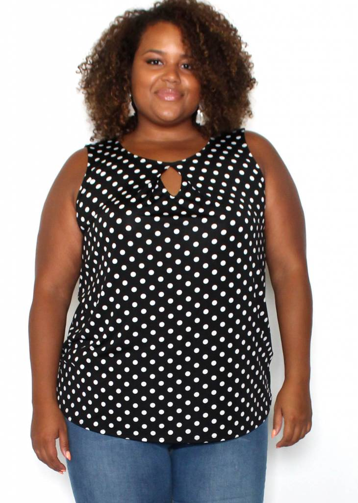 KIERA POLKA DOT SLEEVELESS TOP