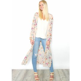 MAGNOLIA TAUPE FLORAL DUSTER