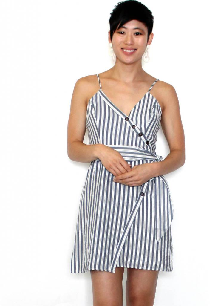 SHAE STRIPED MINI DRESS