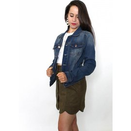 LAUREN DARK WASH DENIM JACKET