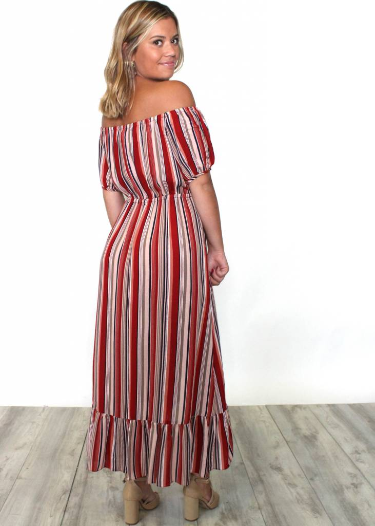 TARA OFF THE SHOULDER MAXI DRESS