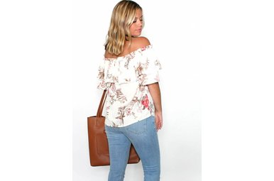 PATRICIA FLORAL OFF THE SHOULDER TOP