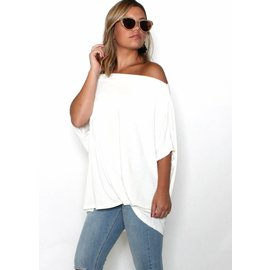 PEARL WHITE BOATNECK TOP