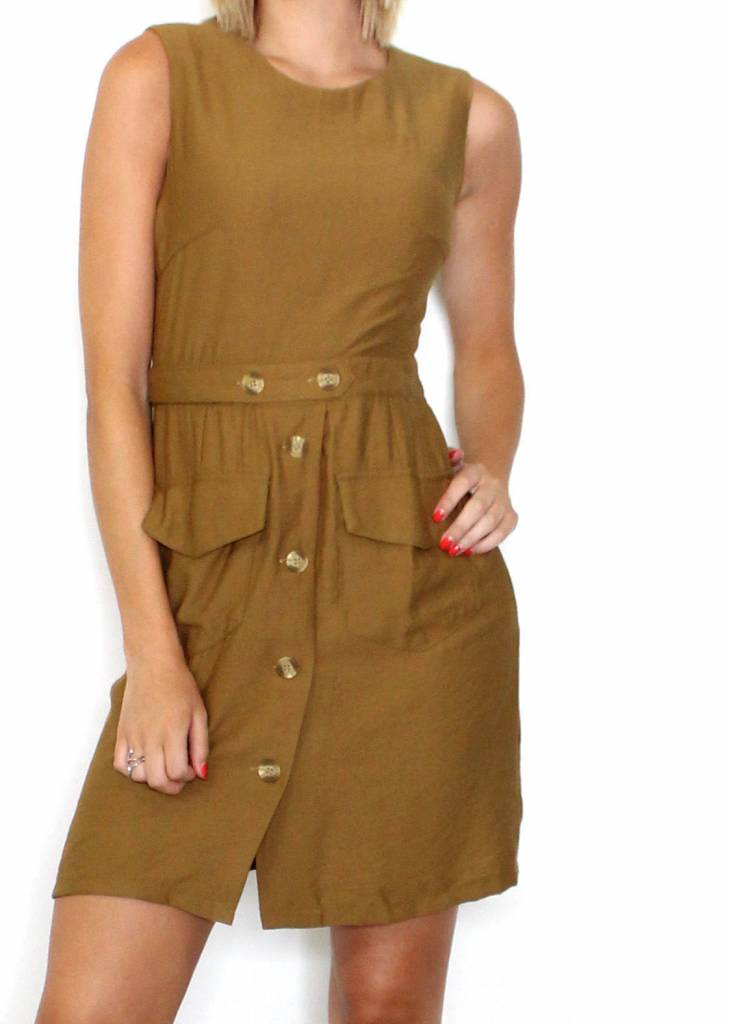 STELLA SLEEVELESS BUTTON UP DRESS