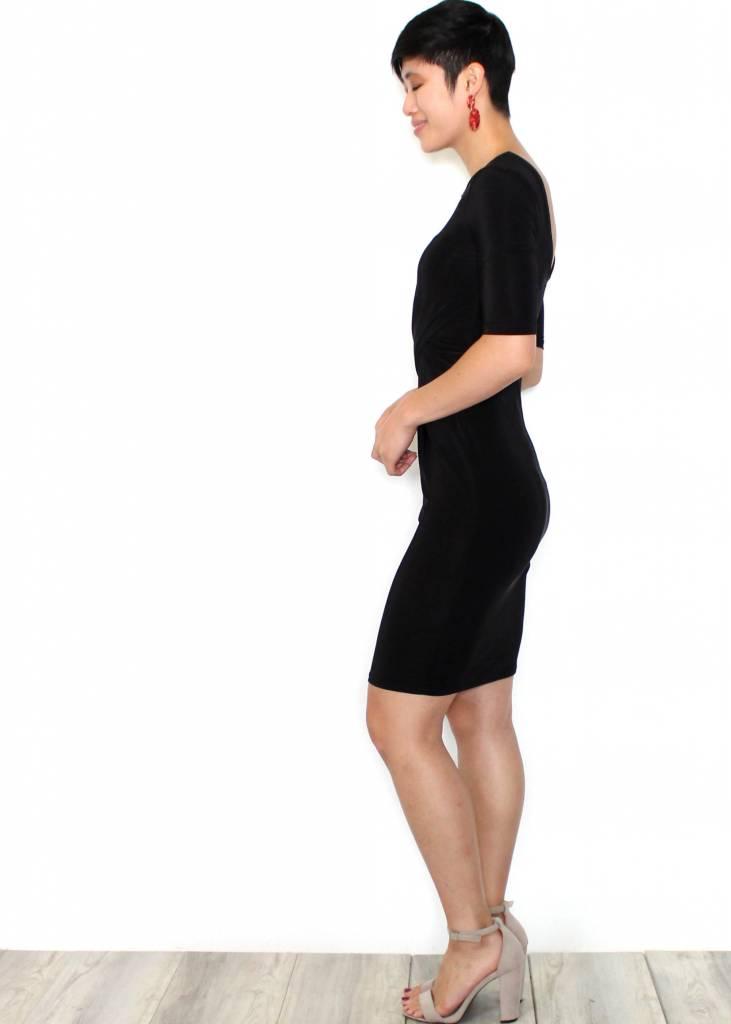 BROOKLYN BLACK BODYCON DRESS