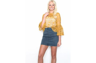 SADIE DENIM MINI SKIRT