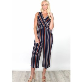 MICKY STRIPED CROPPED JUMPSUIT
