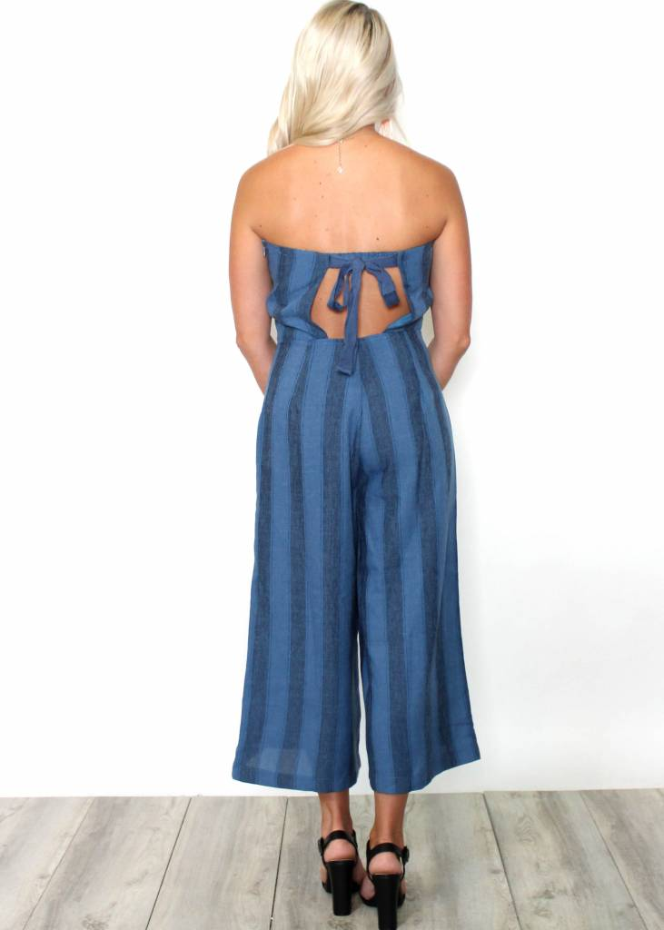 ADDISON CROPPED STRAPLESS JUMPSUIT