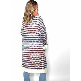 CAIT MULTI COLORED CHUNKY CARDIGAN