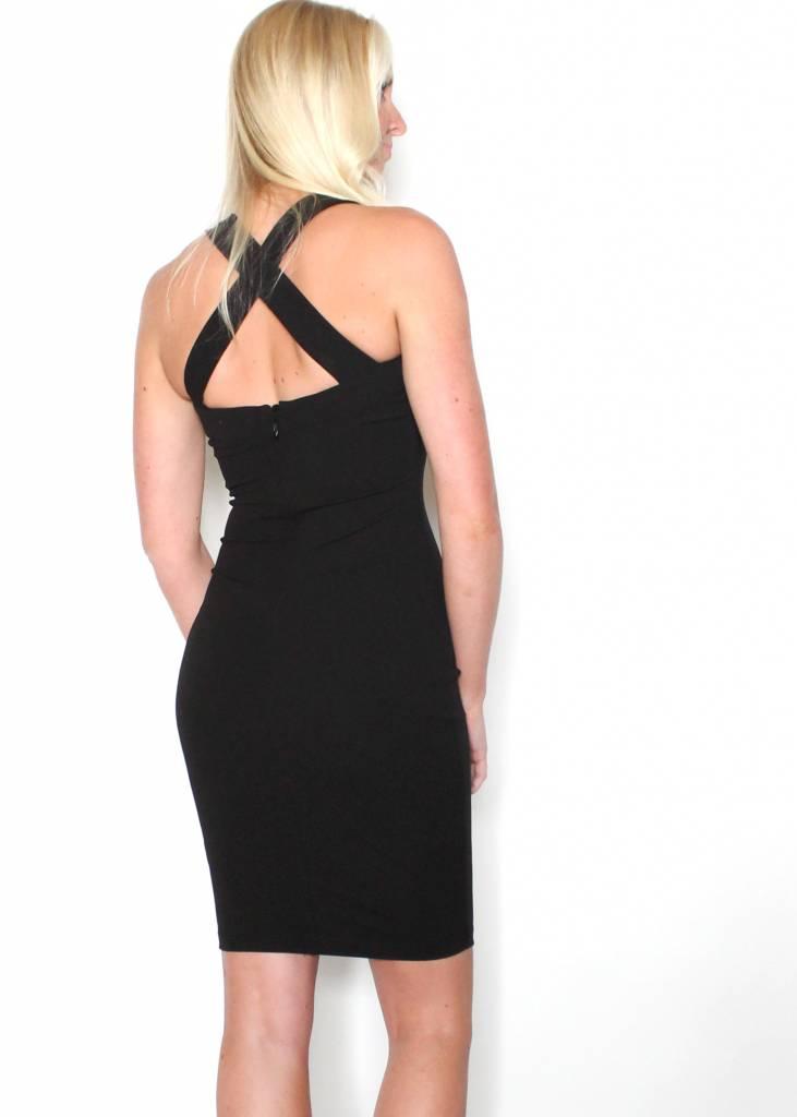 ELIZA BLACK BODYCON DRESS