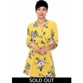 CALLIE YELLOW FLORAL DRESS
