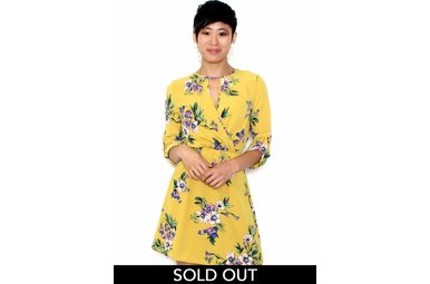 CALLIE YELLOW FLORAL DRESS