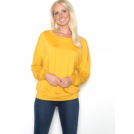 HOLLY MUSTARD LONG SLEEVE TOP