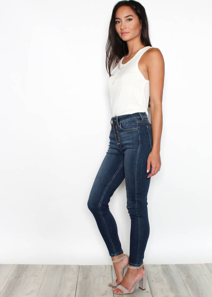 JADE BUTTON FLY SKINNY JEANS