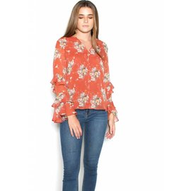 TOYA FLORAL RUFFLE BLOUSE
