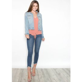 SHAYE CROPPED DENIM JACKET