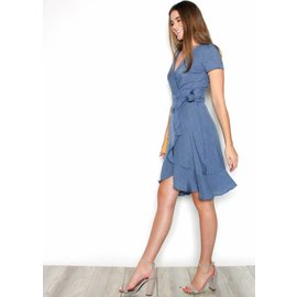 CHARLOTTE CHAMBRAY WRAP DRESS
