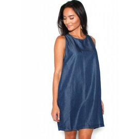 SCARLETT CHAMBRAY SHIFT DRESS