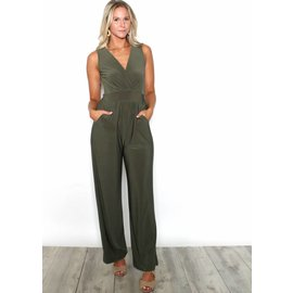 SOPHIE OLIVE SLEEVLESS JUMPSUIT
