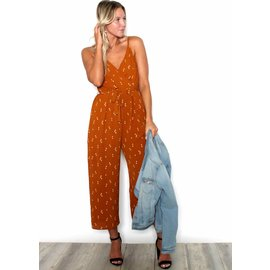 CARLY PRINTED CROPPED JUMPSUIT