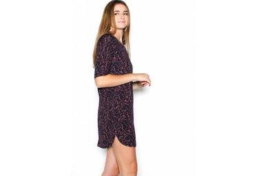 SELENA NAVY PRINTED SHIFT DRESS