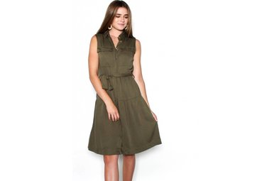 REAGAN OLIVE SLEEVELESS DRESS