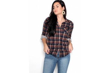 RUBY SUPER SOFT PLAID BUTTON UP