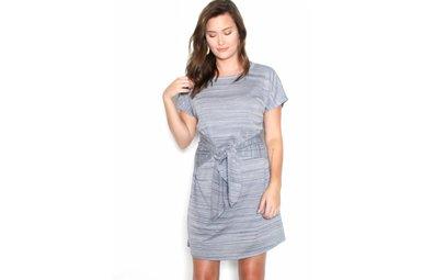 AUSTIN FRONT TIE T-SHIRT DRESS