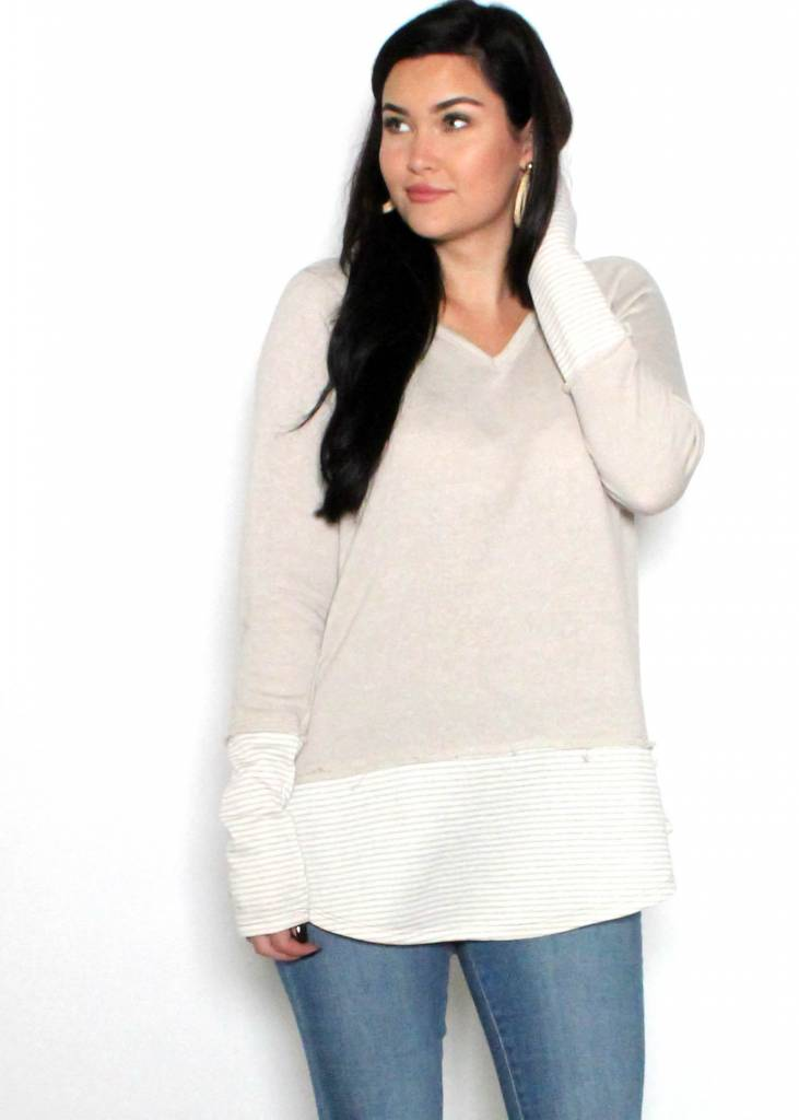 KASH TAUPE SWEATER