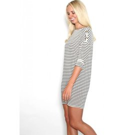KATIE STRIPED T-SHIRT DRESS