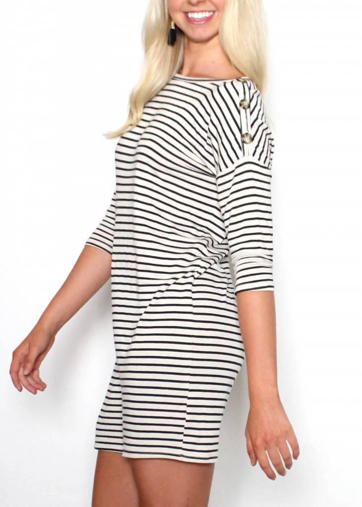 KATIE STRIPED T-SHIRT DRESS