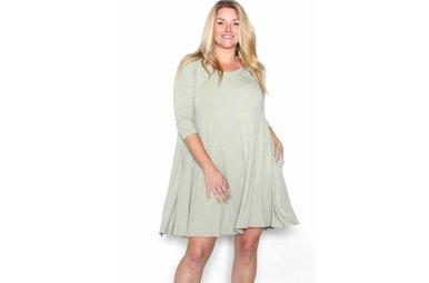 GIANNA SAGE SHIFT DRESS