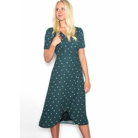 BETTY POLKA DOT WRAP DRESS