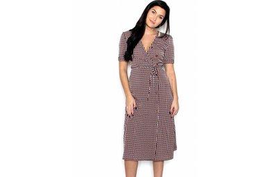 STASSI GEOMETRIC PRINT DRESS