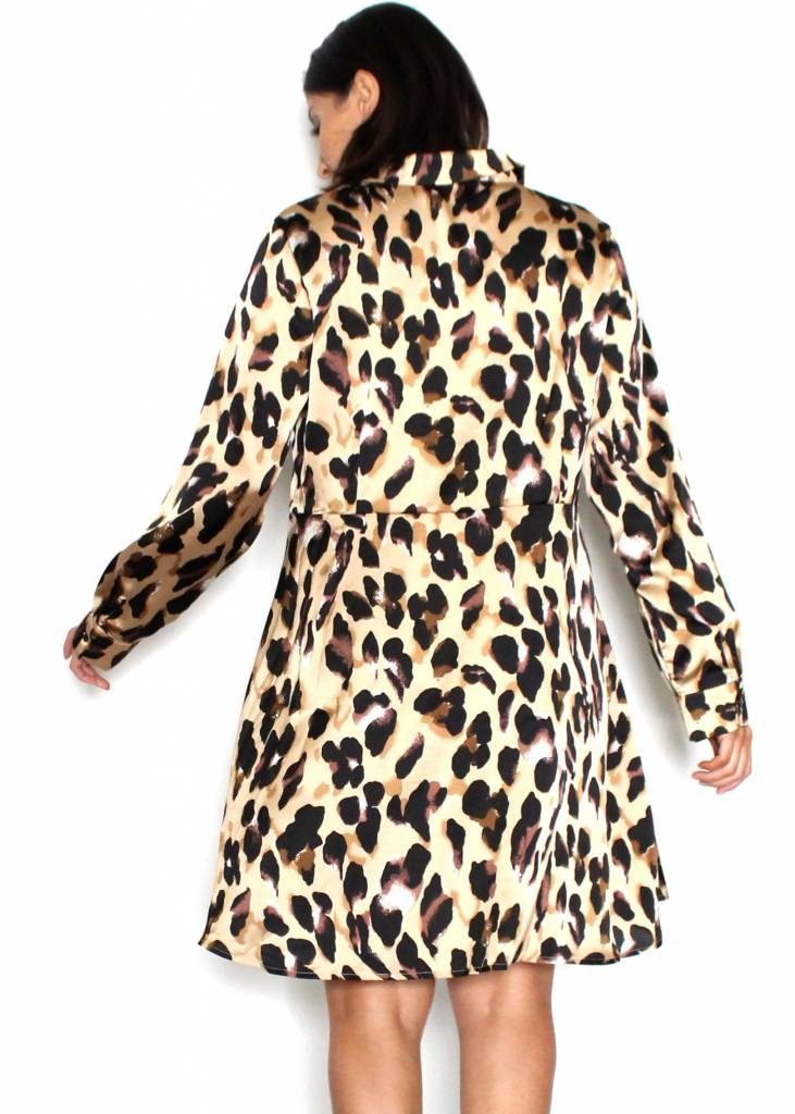 LAUREN LEOPARD PRINT DRESS